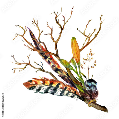 Watercolor Tiger lily - 112318078