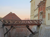bridge in Spilberk castle, city Brno