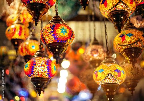 Turkish colorful mosaic lantern Poster