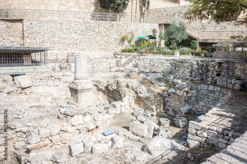 Remains of Bethesda Pool in Jerusalem Poster