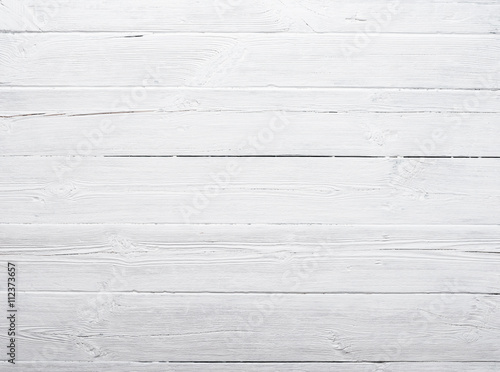 White weathered and painted wood texture - 112373657