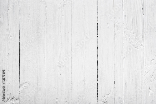 Old white painted wood texture background - 112373695