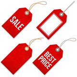 Red Sales vector Price Tags - 112375285