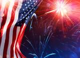 American Celebration - Usa Flag With Fireworks