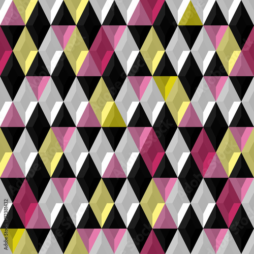 Fototapeta Abstract background. Modern seamless pattern with diamond. Vector illustration
