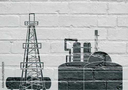Art urbain , industrie pétrolière