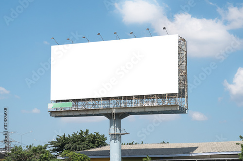 Blank Billboard Mockup Template in Bangkok, Thailand Poster