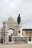 Commerce Square and Statue of King Jose I, Lisbon, Portugal