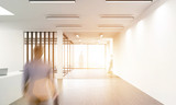 Fototapety Office lobby with businessman