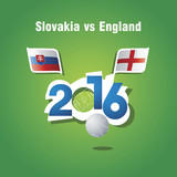 Euro 2016 Slovakia vs England vector background