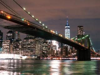 Brooklyn Bridge with WTC at Night