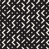 Vector Seamless Black and White Irregular ZigZag Rhombus Geometric Pattern