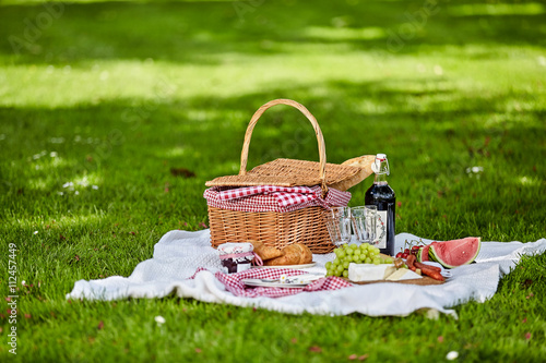 Healthy outdoor summer or spring picnic Poster
