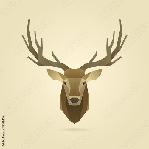 Fotobehang Hipster Hert deer portrait realistic