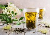 Green tea with elder flower