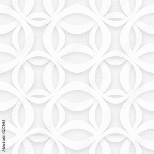 White Geometaric Pattern #Vector Background - 112475095