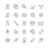 fertilization, pregnancy and motherhood vector icon set.