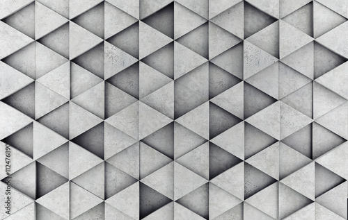 Poster Betonbehang Concrete prism as a background. 3D rendering
