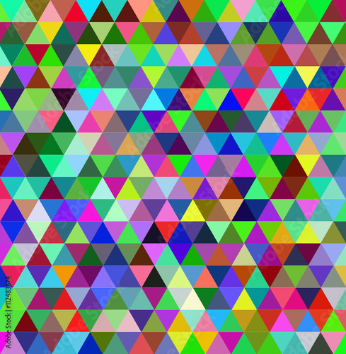 Multicolor triangle background © Many backgrounds