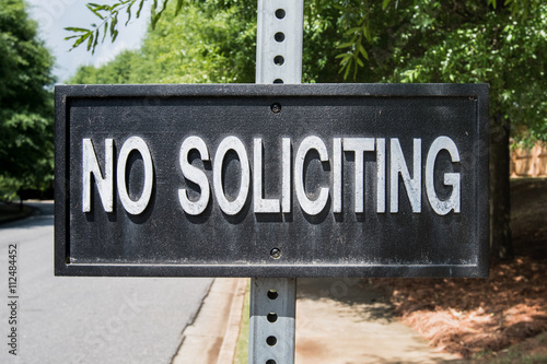Poster No Soliciting Sign