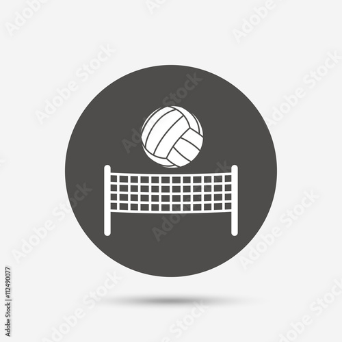 Volleyball net ball icon. Beach sport symbol Poster