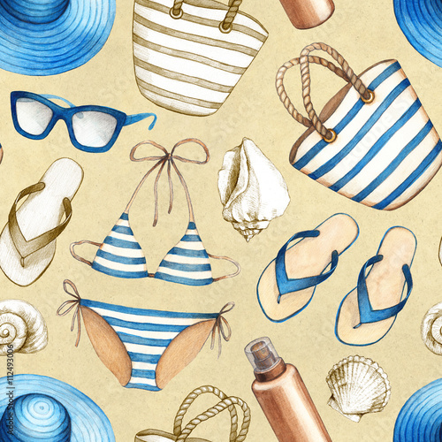 Materiał do szycia Summer holiday pattern