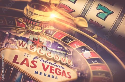 Poster Las Vegas Gambling Concept