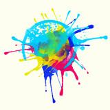 Fototapety Colorful watercolor splash