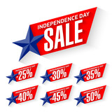 Independence Day Sale discount labels