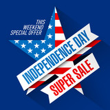 USA Independence Day Weekend Sale banner