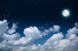 beautiful background, nightly sky with full moon