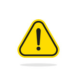 Warning sign vector icon