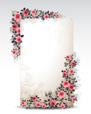floral wreath / floral background with empty text space
