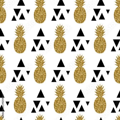 Fototapeta Seamless Pineapples Pattern