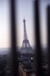 Eiffel tower from Arc de Triumph in Paris, France