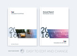 Fototapety Set of Brochure template layout, cover design annual report, magazine,