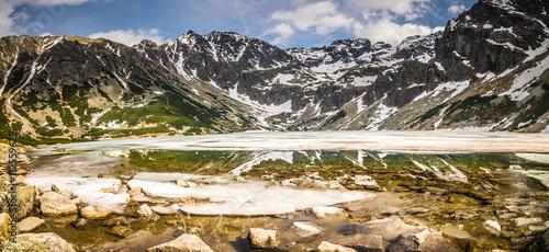 Czarny Staw, Hala Gasienicowa in Tatra Mountains - panorama