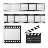Film Strip Set and Chalkboard. Vector - 112581237