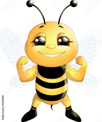 Zdjęcia na płótnie, fototapety, obrazy : bee on a white background