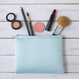 Make-up Bag - Wooden background