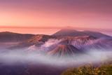 Mount Bromo twilight sky sunrise time with fog nature landscape