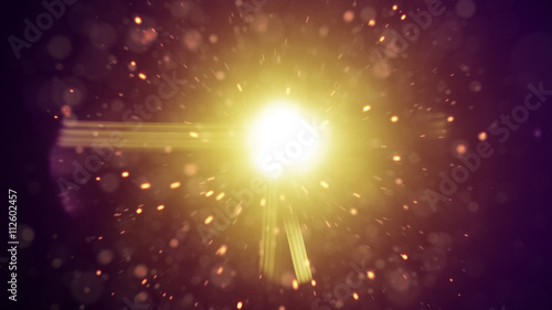 Lens flares and flying particles