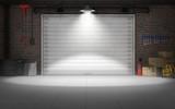 Fototapety Empty car repair garage background. 3d rendering