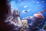 Little boy in the aquarium - 112606877