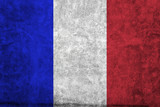 closeup of grunge french flag