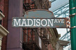 Image of a street sign for Madison Avenue, New York City