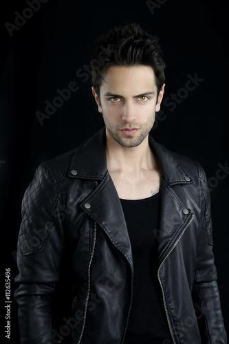 Handsome vampire posing Poster