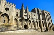 Facade of the Popes Palace in the historic centre of Avignon, France