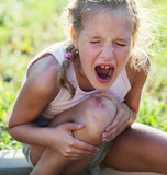 Child knee injury