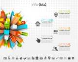 Business infographic. File contains text editable AI, EPS10,JPEG and free font link.